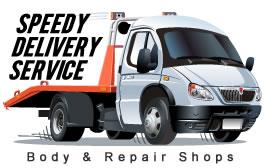 speedy delivery truck logo